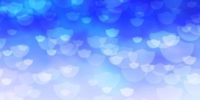 layout de vetor azul escuro com círculos abstratos discos coloridos em padrão de fundo gradiente simples para páginas de destino de sites