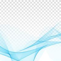 Abstrato design elegante onda azul em fundo transparente vetor