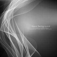 Fundo abstrato elegante onda cinza vetor