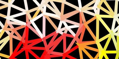 pano de fundo poligonal de vetor multicolor escuro