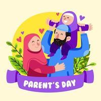 conceito feliz dia dos pais vetor