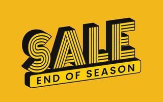 desconto de venda sinal de fim de temporada vetor