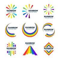 logotipo dos elementos do arco-íris vetor