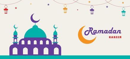 ramadan kareem e cultura islâmica vetor