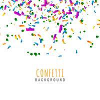 Fundo de celebração confete colorido abstrato vetor