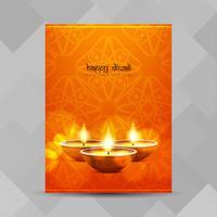 Resumo feliz Diwali festival brochura design vetor