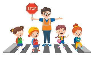 desenho de conceito de tráfego vetor