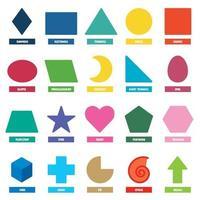 conjunto de formas geométricas básicas vetor