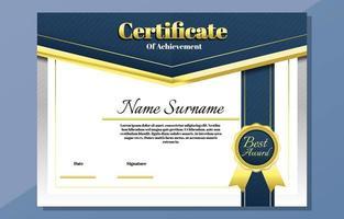 modelo de certificado simples e elegante vetor