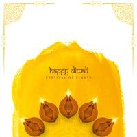 Fundo elegante religioso feliz abstrato de Diwali vetor