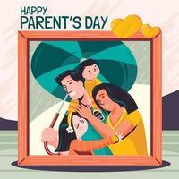 imagem para feliz dia dos pais conceito vetor