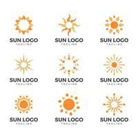 elemento do logotipo do sol vetor