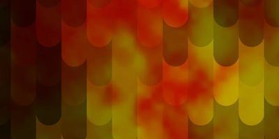 modelo de vetor laranja claro com ilustração de gradiente de linhas com linhas retas em design inteligente de estilo abstrato para suas promoções