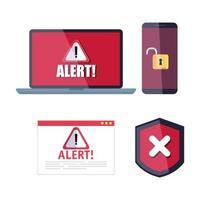 conjunto de ícones de hackers vetor