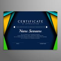 Fundo abstrato elegante certificado colorido vetor