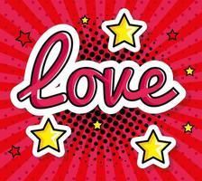 ícone de estilo pop art sinal de amor vetor