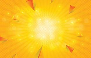 fundo de forma abstrata amarela vetor