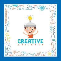 design de conceito para pensamento criativo vetor