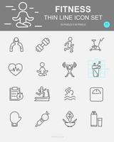 conjunto de ícones de linha de vetor de aptidão