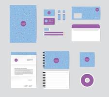 modelo de identidade corporativa para o seu negócio inclui capa de CD, cartão de visita, envelope, pasta e designs de papel timbrado vetor