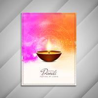 Design de brochura feliz Diwali feliz vetor