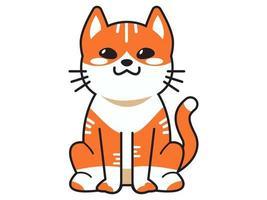 gato fofo ou gatinho animal meow desenho animado animais de estimação fofos coleção de vetor exato ilustração desenho animado miau gato