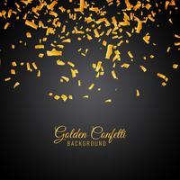 Fundo decorativo abstrato confete dourado vetor
