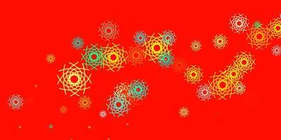modelo de vetor multicolor leve com formas abstratas