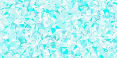 modelo de vetor azul claro com flocos de neve de gelo