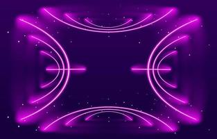 fundo de linha abstrata de néon brilhante vetor