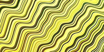 modelo de vetor verde-claro amarelo com linhas curvas
