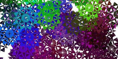 modelo de vetor multicolor leve com flocos de neve de gelo