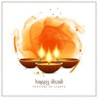 Projeto feliz do fundo do festival indiano feliz de Diwali vetor
