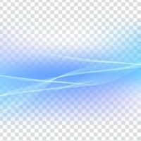 Fundo transparente abstrato onda azul vetor