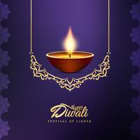 Fundo festival feliz bonito abstrato de Diwali vetor
