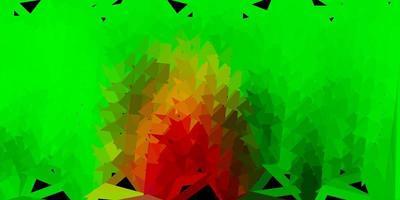 fundo de mosaico de triângulo vector vermelho verde claro