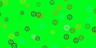 pano de fundo multicolorido de luz com símbolos de mistério vetor