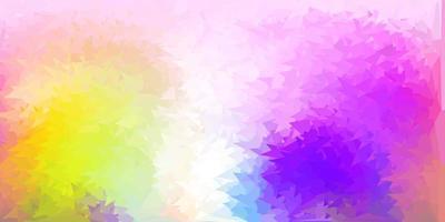 papel de parede poligonal geométrico vetorial multicolorido claro vetor