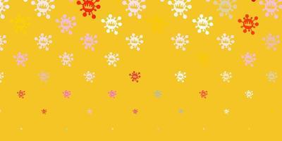 modelo de vetor multicolorido com sinais de gripe