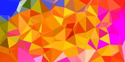 fundo de mosaico de triângulo vetorial multicolorido vetor