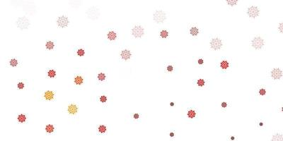 layout de vetor laranja claro com lindos flocos de neve