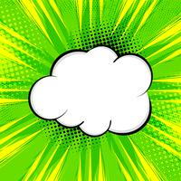 Fundo cômico verde brilhante abstrato