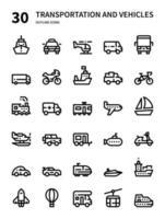 transporte e veículos vetor