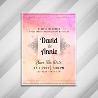 Convite de casamento abstrato design de cartão elegante vetor