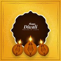 Fundo festival indiano feliz Diwali feliz vetor