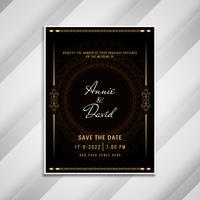 Convite de casamento abstrato design elegante cartão vetor