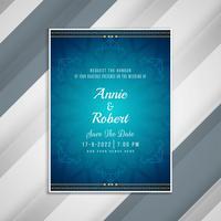 Design de cartão de convite de casamento elegante abstrata vetor