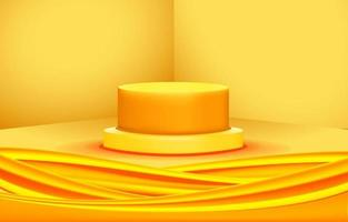tela de fundo amarela do palco vetor