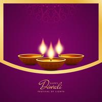 Abstrato artistico feliz Diwali decorativo vetor