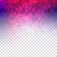 Fundo poligonal transparente colorido abstrato vetor